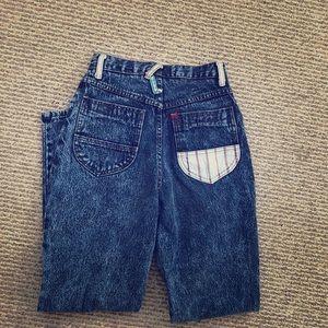 Fantastic Vintage Pattern Denim Blue Jeans
